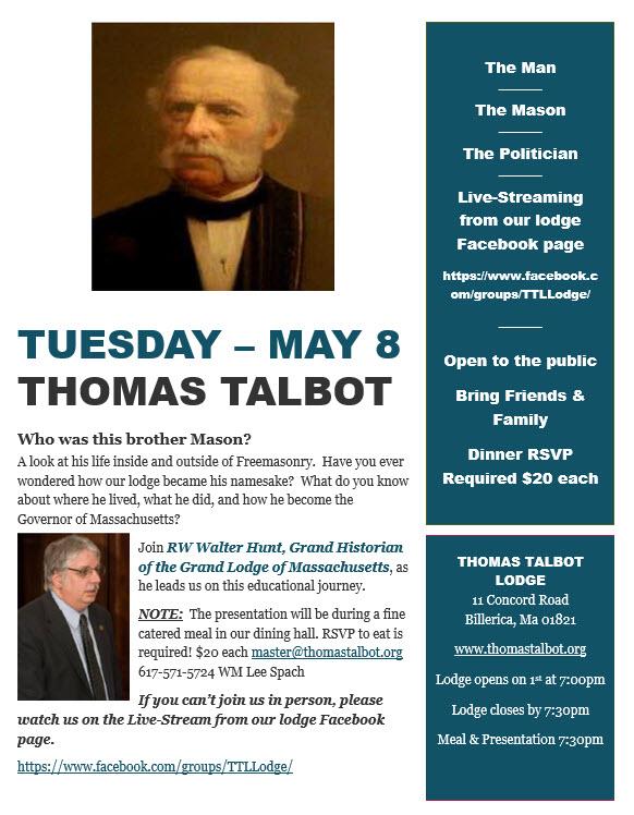 Thomas Talbot 8May2018